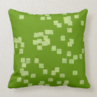 Green and White Squares Pillow