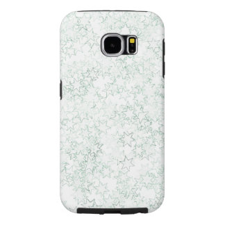 Green and White Star Team Spirit Sports Colors Samsung Galaxy S6 Cases