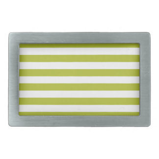 Green and White Stripe Pattern Belt Buckle