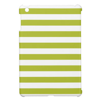 Green and White Stripe Pattern Case For The iPad Mini
