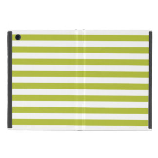 Green and White Stripe Pattern Cover For iPad Mini
