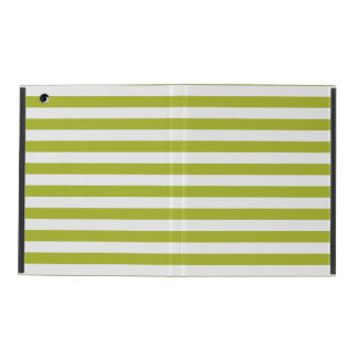 Green and White Stripe Pattern Covers For iPad
