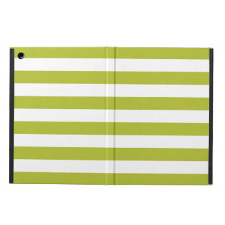 Green and White Stripe Pattern iPad Air Cover