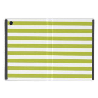 Green and White Stripe Pattern iPad Mini Case
