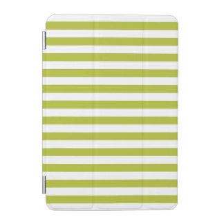 Green and White Stripe Pattern iPad Mini Cover