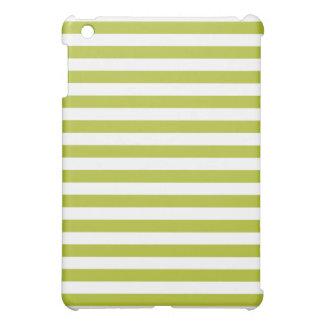 Green and White Stripe Pattern iPad Mini Covers