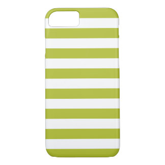 Green and White Stripe Pattern iPhone 8/7 Case