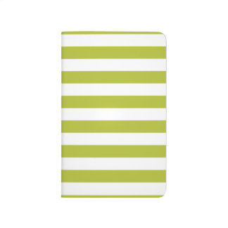 Green and White Stripe Pattern Journal