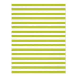Green and White Stripe Pattern Letterhead