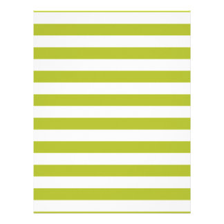 Green and White Stripe Pattern Letterhead Template