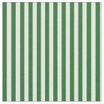 Green and White Striped Craft Fabric