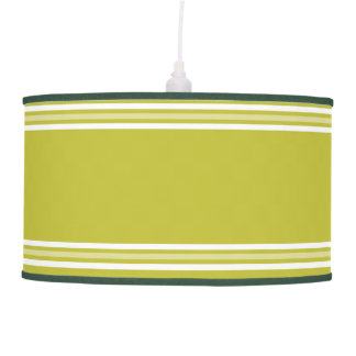 Green And White Stripes Hanging Lamp