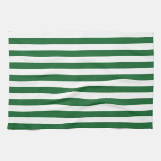 Green and White Stripes Kitchen Towel