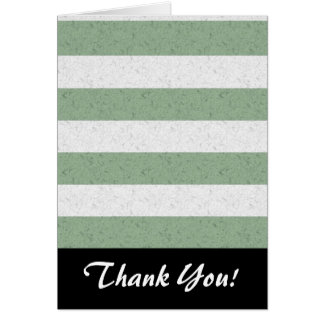 Green and White Stripes Note Card