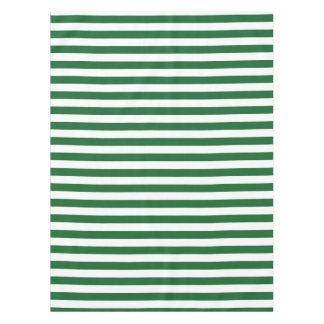 Green and White Stripes Tablecloth