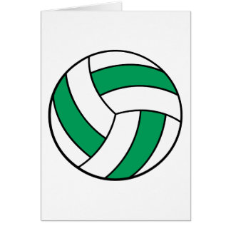 green and white volleyball card