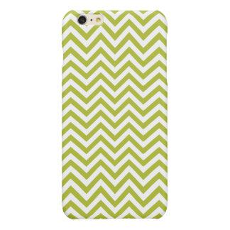Green and White Zigzag Stripes Chevron Pattern