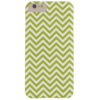 Green and White Zigzag Stripes Chevron Pattern Barely There iPhone 6 Plus Case