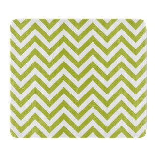 Green and White Zigzag Stripes Chevron Pattern Boards