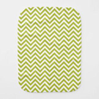 Green and White Zigzag Stripes Chevron Pattern Burp Cloth