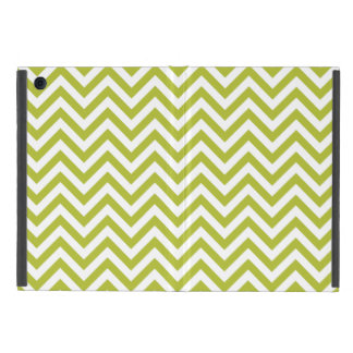 Green and White Zigzag Stripes Chevron Pattern Case For iPad Mini