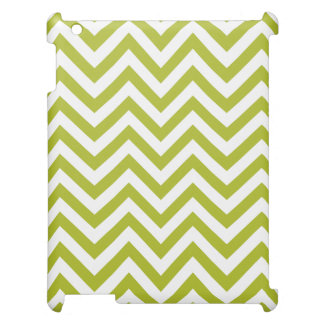 Green and White Zigzag Stripes Chevron Pattern Case For The iPad