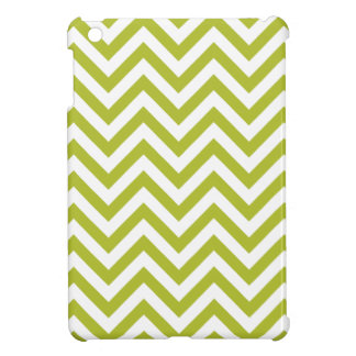 Green and White Zigzag Stripes Chevron Pattern Cover For The iPad Mini