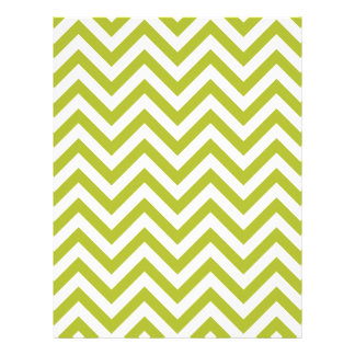 Green and White Zigzag Stripes Chevron Pattern Customized Letterhead