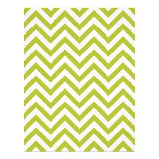 Green and White Zigzag Stripes Chevron Pattern Flyer
