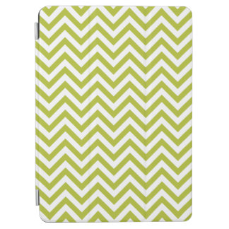 Green and White Zigzag Stripes Chevron Pattern iPad Air Cover