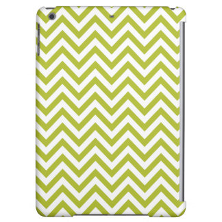 Green and White Zigzag Stripes Chevron Pattern iPad Air Covers