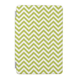 Green and White Zigzag Stripes Chevron Pattern iPad Mini Cover