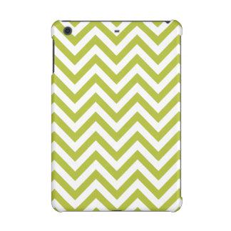 Green and White Zigzag Stripes Chevron Pattern iPad Mini Retina Case