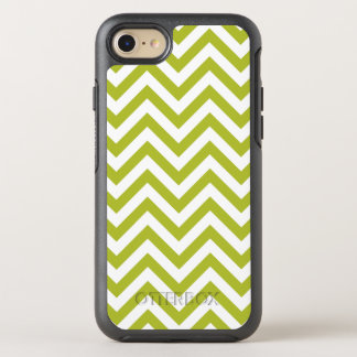 Green and White Zigzag Stripes Chevron Pattern OtterBox Symmetry iPhone 8/7 Case