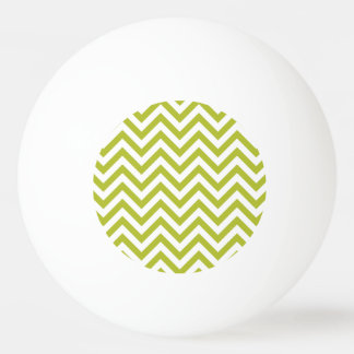 Green and White Zigzag Stripes Chevron Pattern Ping Pong Ball