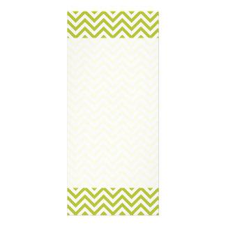 Green and White Zigzag Stripes Chevron Pattern Rack Card