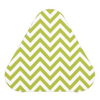 Green and White Zigzag Stripes Chevron Pattern Speaker