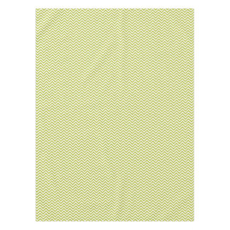 Green and White Zigzag Stripes Chevron Pattern Tablecloth