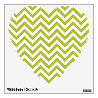 Green and White Zigzag Stripes Chevron Pattern Wall Decal