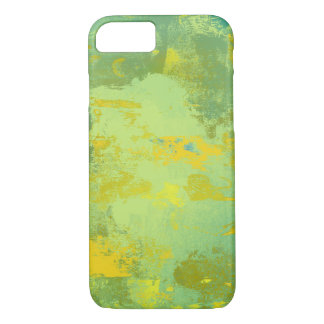 Green and Yellow Abstract Art Design Case-Mate iPhone Case