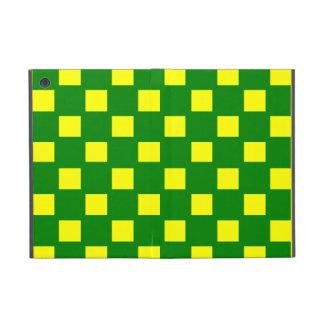 Green and Yellow Checked iPad Mini Case