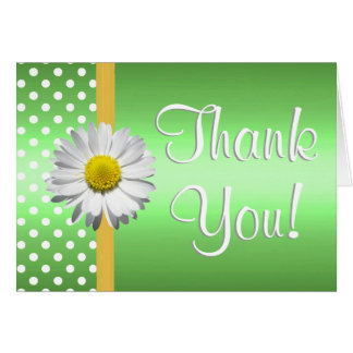 Green and Yellow daisy Thank you card