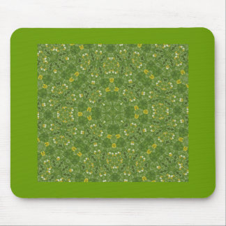 Green and yellow fractal pattern mousepad