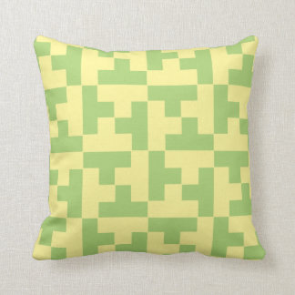 Green and Yellow Geometric Pillow