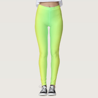 Green And Yellow Gradient Leggings