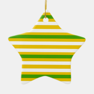 Green and Yellow Look Ceramic Ornament