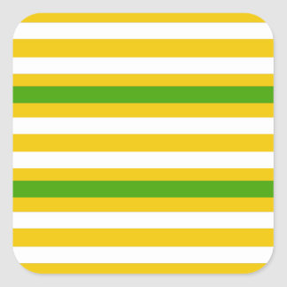 Green and Yellow Look Square Sticker