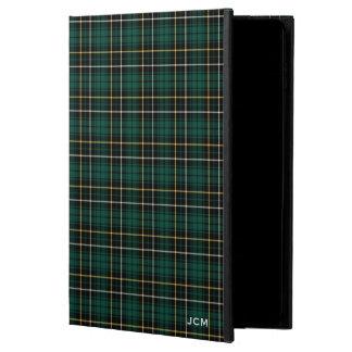 Green and Yellow MacAlpine Clan Tartan Monogram Powis iPad Air 2 Case