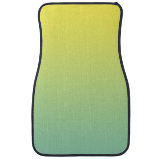 """Green And Yellow Ombre"" Car Carpet"