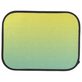 """Green And Yellow Ombre"" Floor Mat"